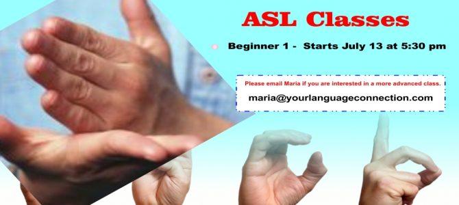 New ASL class