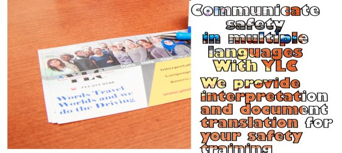 Interpreters can make a difference in your safety Training